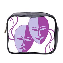 Comedy & Tragedy Of Chronic Pain Mini Travel Toiletry Bag (Two Sides)