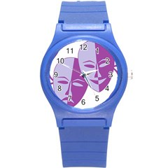 Comedy & Tragedy Of Chronic Pain Plastic Sport Watch (Small)