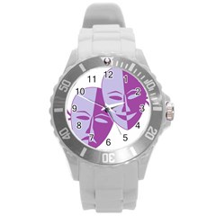 Comedy & Tragedy Of Chronic Pain Plastic Sport Watch (large)