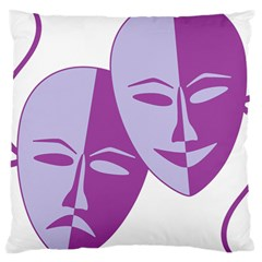 Comedy & Tragedy Of Chronic Pain Large Cushion Case (two Sided)