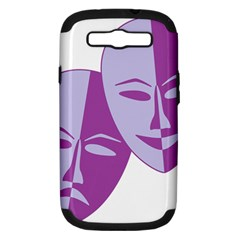 Comedy & Tragedy Of Chronic Pain Samsung Galaxy S III Hardshell Case (PC+Silicone)