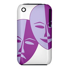 Comedy & Tragedy Of Chronic Pain Apple Iphone 3g/3gs Hardshell Case (pc+silicone)