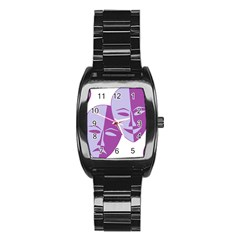 Comedy & Tragedy Of Chronic Pain Stainless Steel Barrel Watch