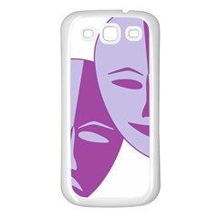Comedy & Tragedy Of Chronic Pain Samsung Galaxy S3 Back Case (white)