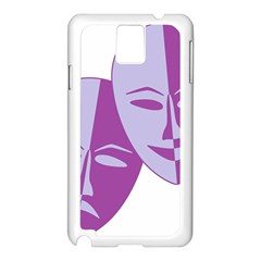 Comedy & Tragedy Of Chronic Pain Samsung Galaxy Note 3 N9005 Case (white)