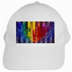 Conundrum I, Abstract Rainbow Woman Goddess  White Baseball Cap