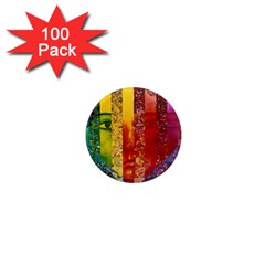 Conundrum I, Abstract Rainbow Woman Goddess  1  Mini Button Magnet (100 pack)