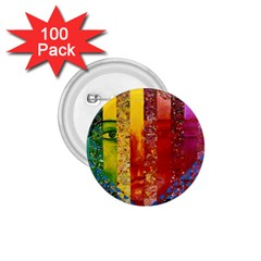 Conundrum I, Abstract Rainbow Woman Goddess  1 75  Button (100 Pack)
