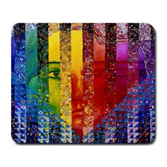 Conundrum I, Abstract Rainbow Woman Goddess  Large Mouse Pad (Rectangle)
