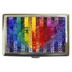 Conundrum I, Abstract Rainbow Woman Goddess  Cigarette Money Case