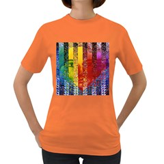Conundrum I, Abstract Rainbow Woman Goddess  Women s T-shirt (Colored)