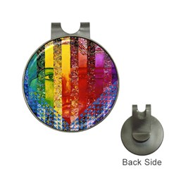 Conundrum I, Abstract Rainbow Woman Goddess  Hat Clip With Golf Ball Marker