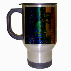 Conundrum I, Abstract Rainbow Woman Goddess  Travel Mug (Silver Gray)
