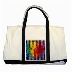 Conundrum I, Abstract Rainbow Woman Goddess  Two Toned Tote Bag