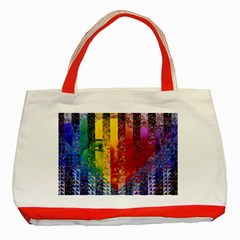 Conundrum I, Abstract Rainbow Woman Goddess  Classic Tote Bag (red)