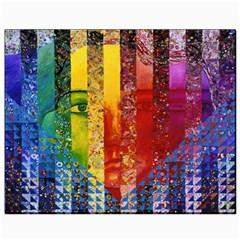 Conundrum I, Abstract Rainbow Woman Goddess  Canvas 8  x 10  (Unframed)