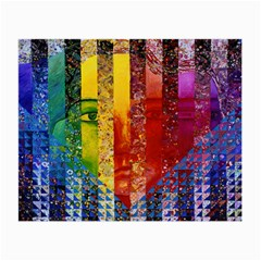 Conundrum I, Abstract Rainbow Woman Goddess  Glasses Cloth (Small, Two Sided)