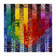Conundrum I, Abstract Rainbow Woman Goddess  Glasses Cloth (Medium, Two Sided)