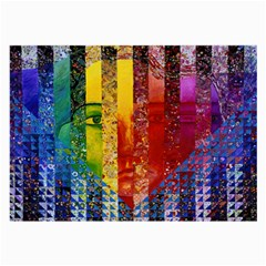 Conundrum I, Abstract Rainbow Woman Goddess  Glasses Cloth (large)