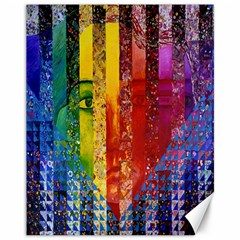 Conundrum I, Abstract Rainbow Woman Goddess  Canvas 11  X 14  (unframed)
