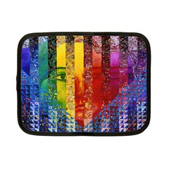 Conundrum I, Abstract Rainbow Woman Goddess  Netbook Sleeve (Small)