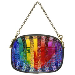 Conundrum I, Abstract Rainbow Woman Goddess  Chain Purse (One Side)