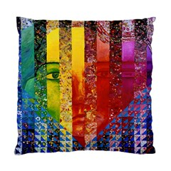 Conundrum I, Abstract Rainbow Woman Goddess  Cushion Case (Two Sided)