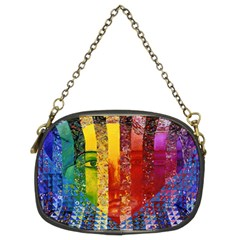 Conundrum I, Abstract Rainbow Woman Goddess  Chain Purse (two Sided)