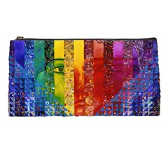 Conundrum I, Abstract Rainbow Woman Goddess  Pencil Case