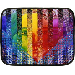 Conundrum I, Abstract Rainbow Woman Goddess  Mini Fleece Blanket (Two Sided)
