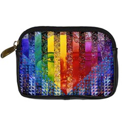 Conundrum I, Abstract Rainbow Woman Goddess  Digital Camera Leather Case