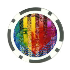 Conundrum I, Abstract Rainbow Woman Goddess  Poker Chip (10 Pack)