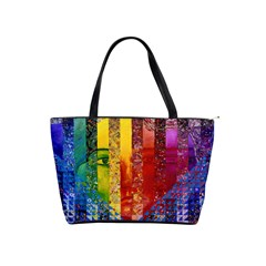 Conundrum I, Abstract Rainbow Woman Goddess  Large Shoulder Bag