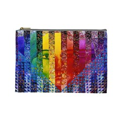 Conundrum I, Abstract Rainbow Woman Goddess  Cosmetic Bag (Large)