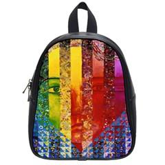 Conundrum I, Abstract Rainbow Woman Goddess  School Bag (Small)