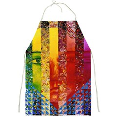 Conundrum I, Abstract Rainbow Woman Goddess  Apron
