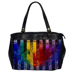 Conundrum I, Abstract Rainbow Woman Goddess  Oversize Office Handbag (One Side)