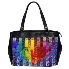 Conundrum I, Abstract Rainbow Woman Goddess  Oversize Office Handbag (Two Sides)