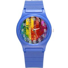 Conundrum I, Abstract Rainbow Woman Goddess  Plastic Sport Watch (Small)