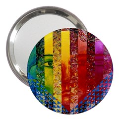Conundrum I, Abstract Rainbow Woman Goddess  3  Handbag Mirror
