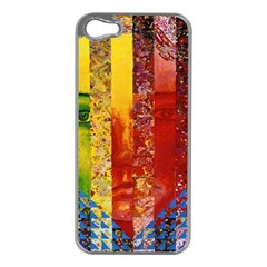 Conundrum I, Abstract Rainbow Woman Goddess  Apple iPhone 5 Case (Silver)