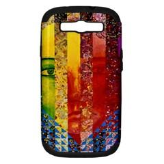 Conundrum I, Abstract Rainbow Woman Goddess  Samsung Galaxy S Iii Hardshell Case (pc+silicone)