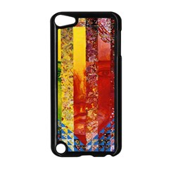 Conundrum I, Abstract Rainbow Woman Goddess  Apple Ipod Touch 5 Case (black)