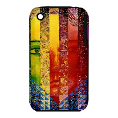 Conundrum I, Abstract Rainbow Woman Goddess  Apple iPhone 3G/3GS Hardshell Case (PC+Silicone)