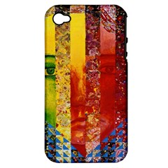 Conundrum I, Abstract Rainbow Woman Goddess  Apple iPhone 4/4S Hardshell Case (PC+Silicone)