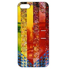 Conundrum I, Abstract Rainbow Woman Goddess  Apple iPhone 5 Hardshell Case with Stand