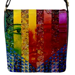 Conundrum I, Abstract Rainbow Woman Goddess  Flap Closure Messenger Bag (Small)