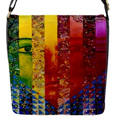 Conundrum I, Abstract Rainbow Woman Goddess  Removable Flap Cover (Small)
