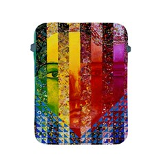 Conundrum I, Abstract Rainbow Woman Goddess  Apple iPad Protective Sleeve