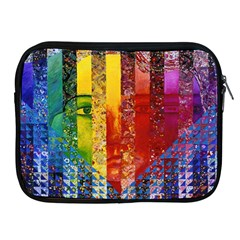 Conundrum I, Abstract Rainbow Woman Goddess  Apple iPad Zippered Sleeve
